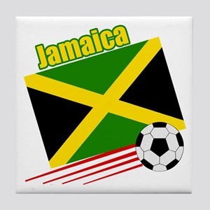 Jamaica Soccer Team Tile Coaster