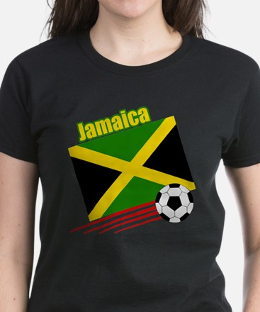 Jamaica Soccer Team Women's Dark T-Shirt