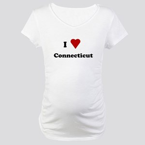 I Love Connecticut Maternity T-Shirt