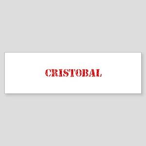 Cristobal Rustic Stencil Design Bumper Sticker