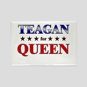 TEAGAN for queen Rectangle Magnet