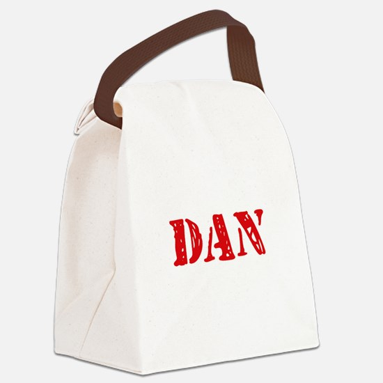 Dan Rustic Stencil Design Canvas Lunch Bag