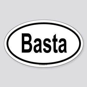BASTA Oval Sticker