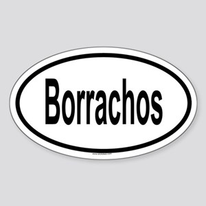 BORRACHOS Oval Sticker
