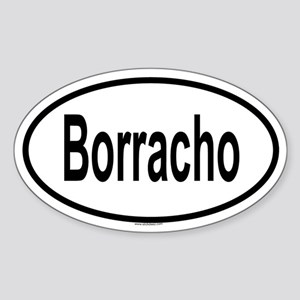 BORRACHO Oval Sticker