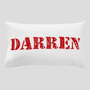 Darren Rustic Stencil Design Pillow Case