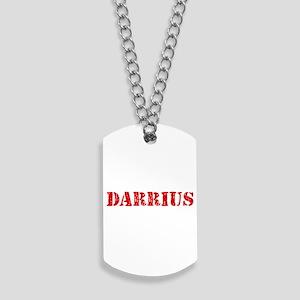 Darrius Rustic Stencil Design Dog Tags
