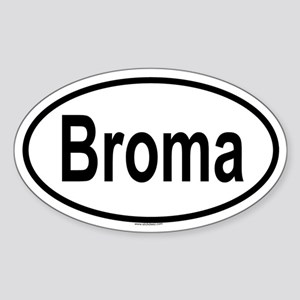 BROMA Oval Sticker