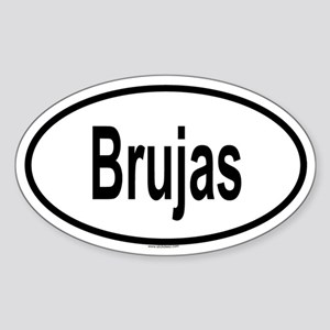 BRUJAS Oval Sticker