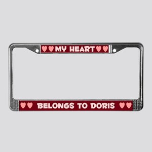 My Heart: Doris (#007) License Plate Frame