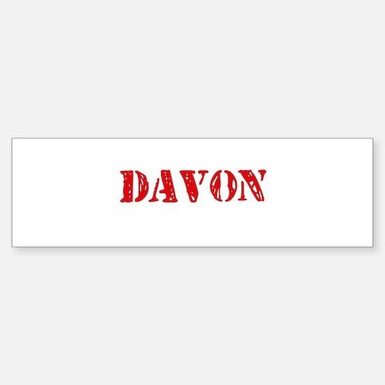 Davon Rustic Stencil Design Bumper Bumper Bumper Sticker