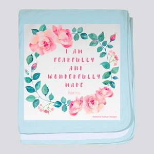 Fearfully & wonderfully made baby blanket