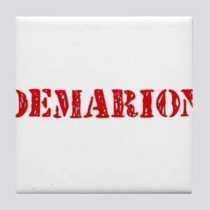 Demarion Rustic Stencil Design Tile Coaster