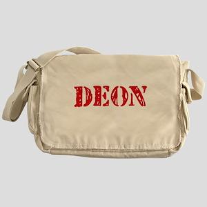 Deon Rustic Stencil Design Messenger Bag