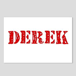 Derek Rustic Stencil Desi Postcards (Package of 8)