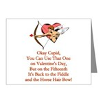 Cupid's Bow Note Cards (Pk of 20)