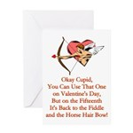 Cupid's Bow Greeting Card