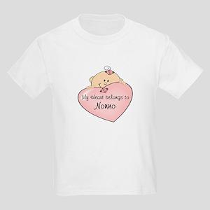 Heart Belongs to Nonno Kids Light T-Shirt
