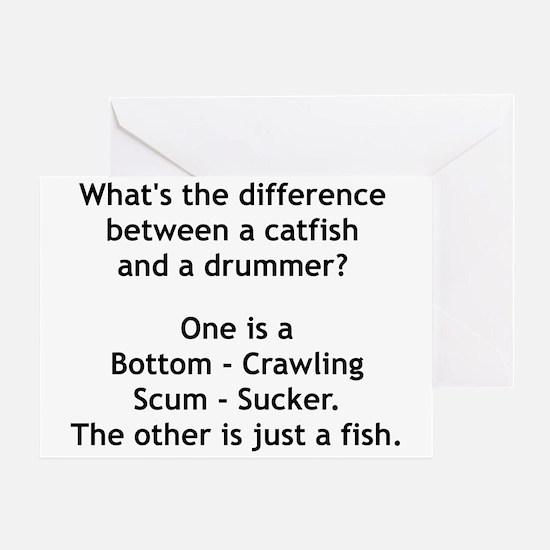 Scum Sucking Drummer Greeting Card