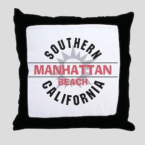 Manhattan Beach CA Throw Pillow