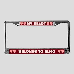 My Heart: Elmo (#007) License Plate Frame