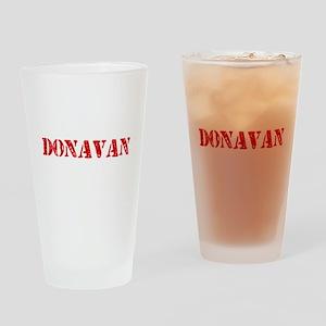 Donavan Rustic Stencil Design Drinking Glass