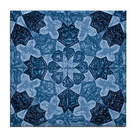 Abstract 1 (Blue) Tile Coaster