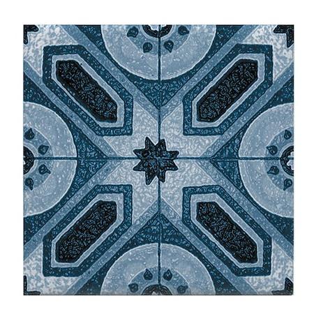 Abstract 2 (Blue) Tile Coaster