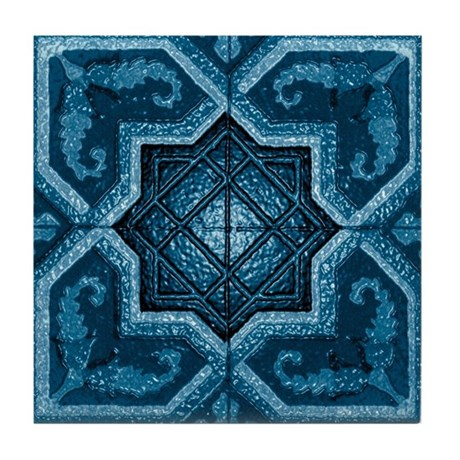 Abstract 7 (Blue) Tile Coaster