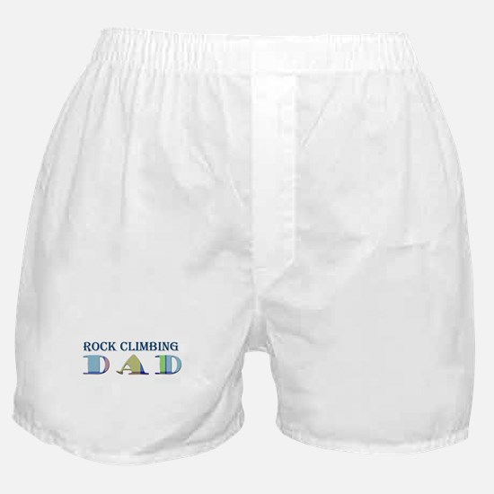 Rock Climbing Dad Boxer Shorts