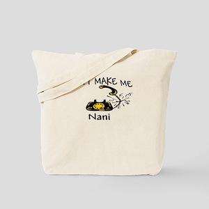 Call Nani with Black Phone Tote Bag