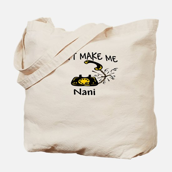 Call Nani with Black Phone Tote Bag
