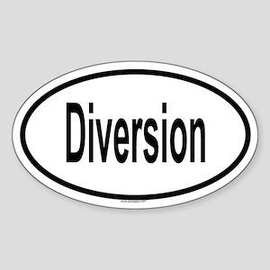 DIVERSION Oval Sticker