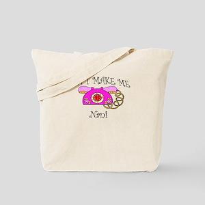 Call Nani with Pink Phone Tote Bag