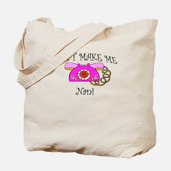 Call Nani with Pink Phone Tote Bag