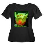 Tulip Poplar Flower Women's Plus Size Scoop Neck D