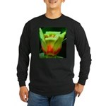 Tulip Poplar Flower Long Sleeve Dark T-Shirt