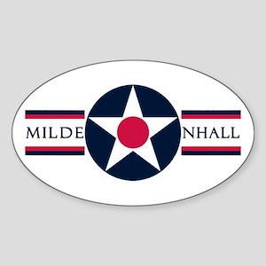 RAF Mildenhall Oval Sticker