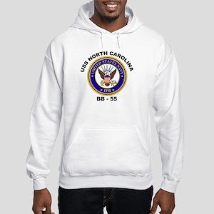 USS North Carolina BB 55 Hooded Sweatshirt