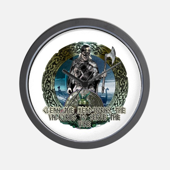 Viking Victory Drink from the gods Wall Clock