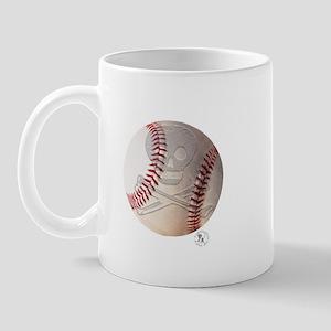 Skull & Crossbones Baseball Mug