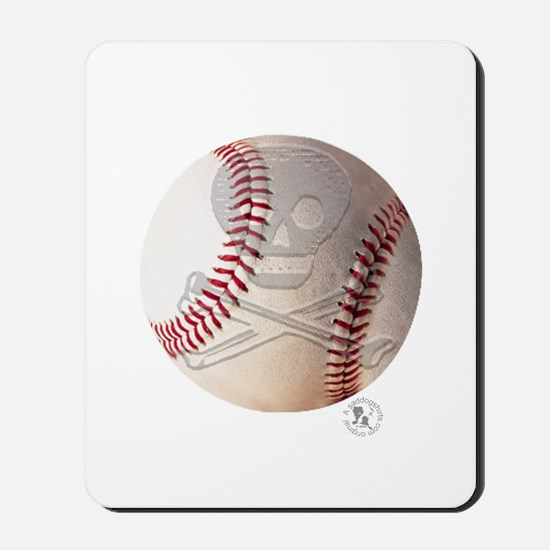 Skull & Crossbones Baseball Mousepad
