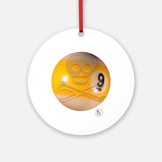 Skull & Crossbones 9-ball Ornament (Round)