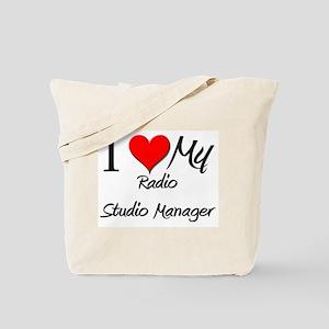 I Heart My Radio Studio Manager Tote Bag