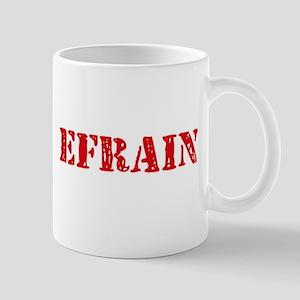 Efrain Rustic Stencil Design Mugs