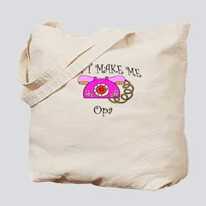 Call Opa with Pink Phone Tote Bag