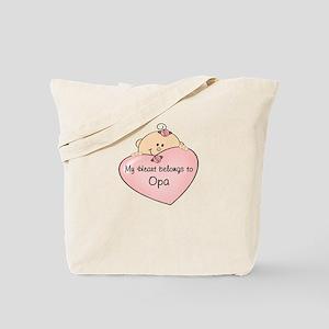 Heart Belongs to Opa Tote Bag