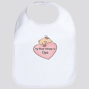 Heart Belongs to Opa Bib