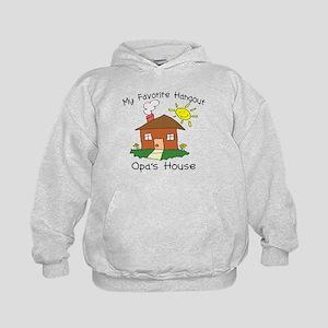Favorite Hangout Opa's House Kids Hoodie