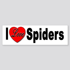I Love Spiders Bumper Sticker for Spider Lovers